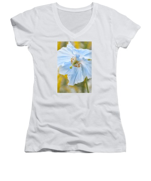 Himalayan Poppy Women's V-Neck (Athletic Fit)