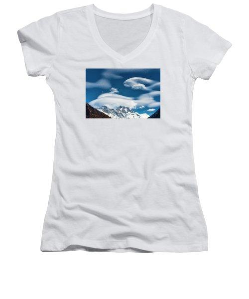 Himalayan Sky Women's V-Neck
