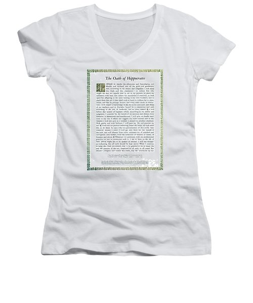Hippocratic Oath, 1938 Women's V-Neck T-Shirt