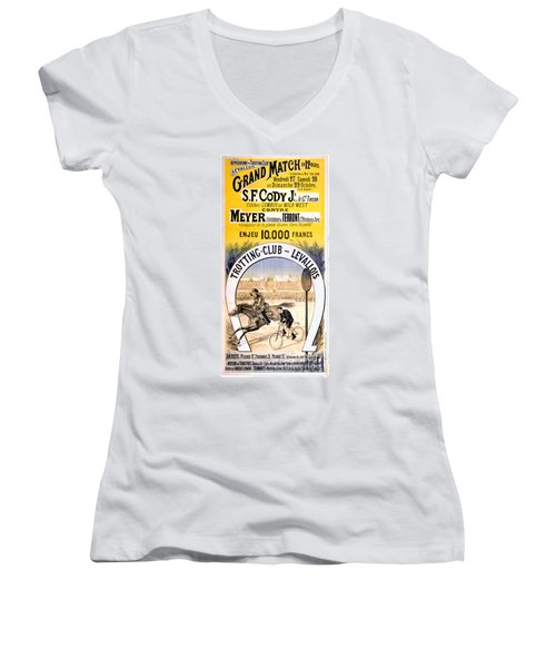 Hippodrome Du Trotting Club Levallois Women's V-Neck (Athletic Fit)