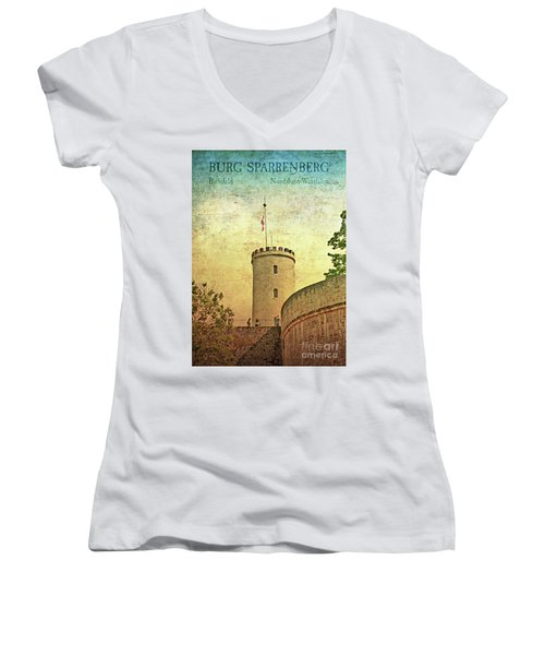 Historic Landmark Sparrenberg Castle Women's V-Neck (Athletic Fit)