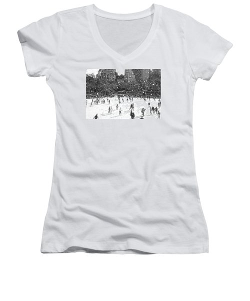 Holiday Skaters Women's V-Neck (Athletic Fit)