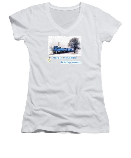 Holiday Train Women's V-Neck T-Shirt