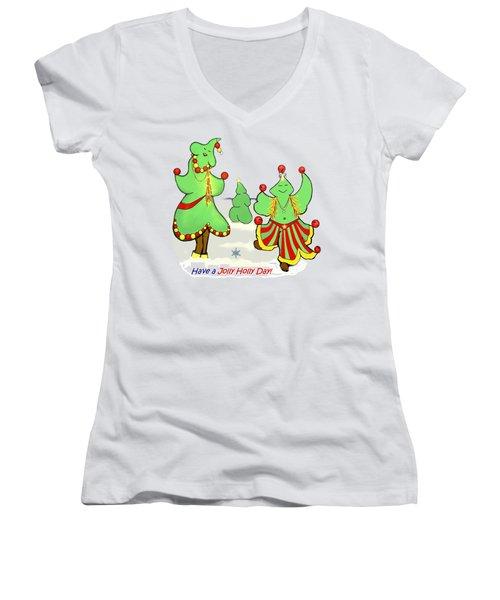 Holly Day Shirt For Children Women's V-Neck T-Shirt