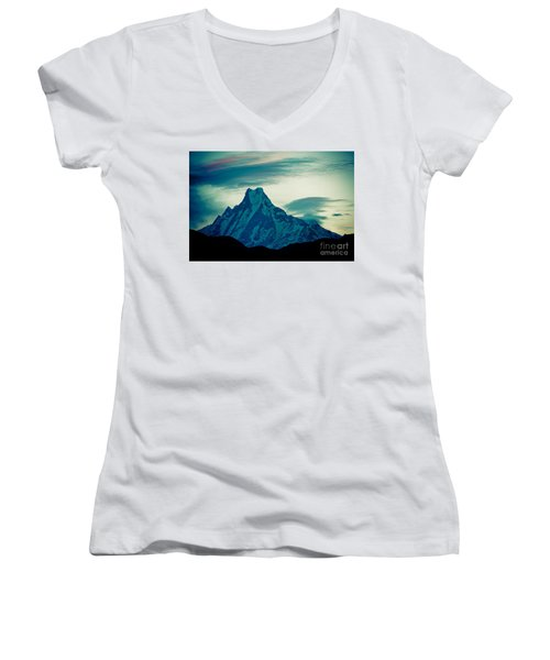 Holy Mount Fish Tail Machhapuchare 6998m Women's V-Neck