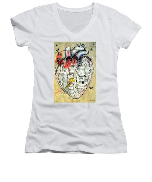 Home Women's V-Neck T-Shirt (Junior Cut) by Paulo Zerbato