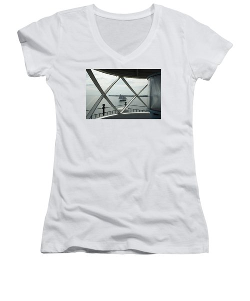 Home To Rockland Women's V-Neck (Athletic Fit)
