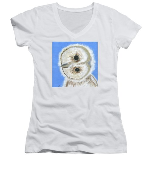 Hoo Me Women's V-Neck T-Shirt
