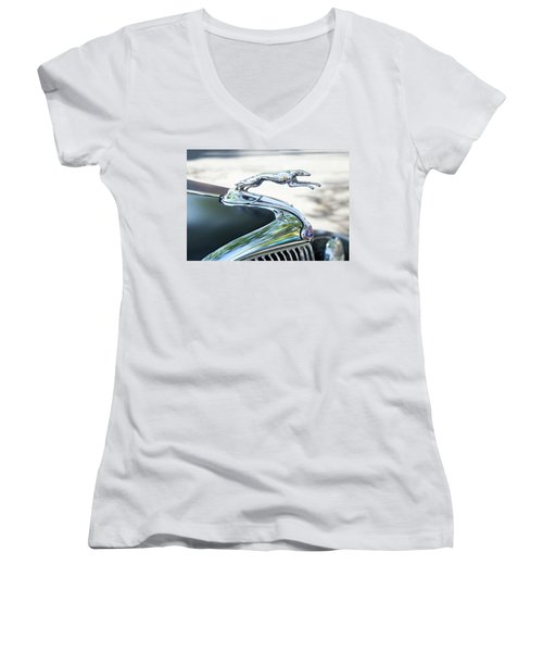 Hood Ornament Ford Women's V-Neck T-Shirt