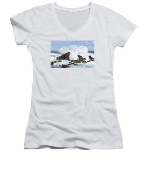 Hookipa Point Women's V-Neck (Athletic Fit)