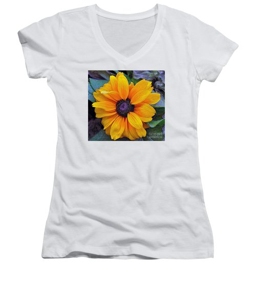 Women's V-Neck T-Shirt (Junior Cut) featuring the photograph Hope by Gina Savage