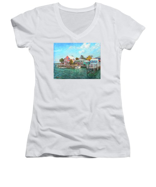 Hope Town By The Sea Women's V-Neck