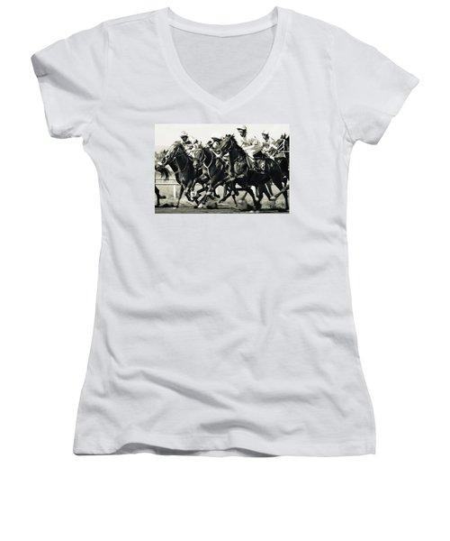Horse Competition Vi - Horse Race Women's V-Neck