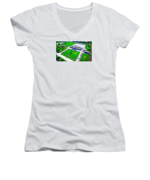 Horse Farm Aerial Women's V-Neck