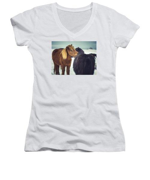 Horse Friends Forever Women's V-Neck (Athletic Fit)