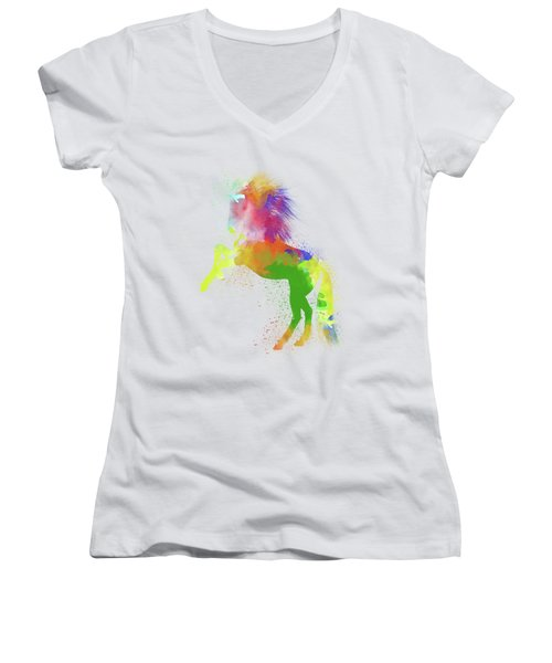 Horse Watercolor 2 Women's V-Neck T-Shirt