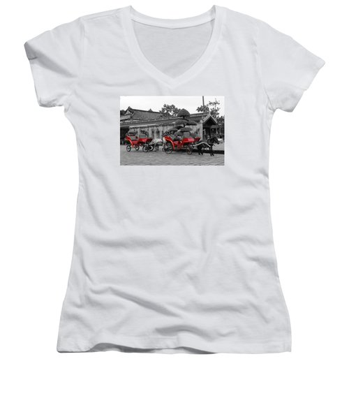 Horses And Carriages Women's V-Neck (Athletic Fit)
