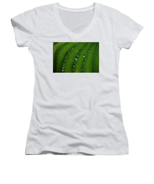 Hostas And Raindrops Women's V-Neck (Athletic Fit)