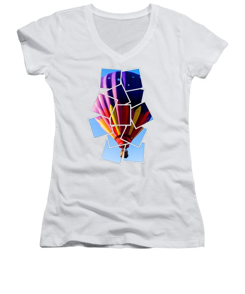 Hot Air Ballooning Tee Women's V-Neck (Athletic Fit)