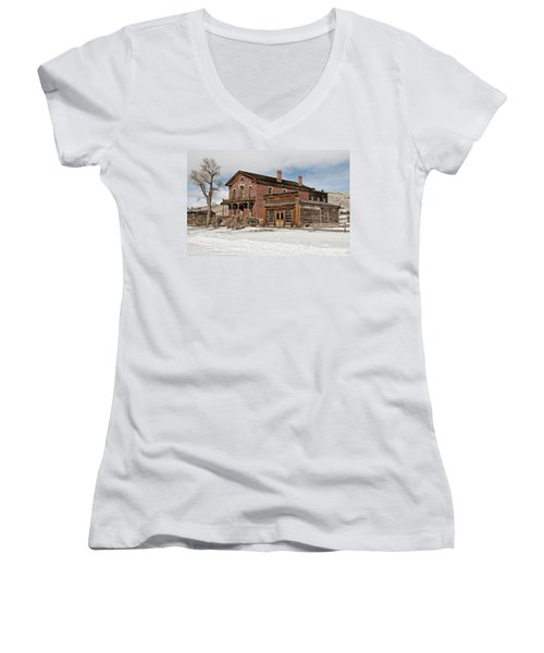 Hotel Meade And Saloon Women's V-Neck