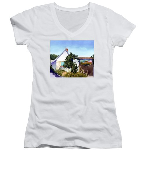 House At Giverny Women's V-Neck