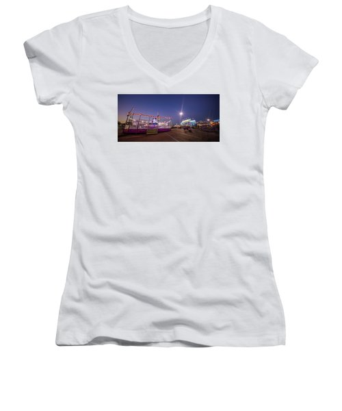 Houston Texas Live Stock Show And Rodeo #12 Women's V-Neck T-Shirt (Junior Cut) by Micah Goff