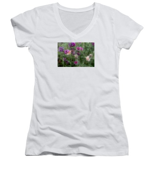 How I Love Flowers Women's V-Neck (Athletic Fit)