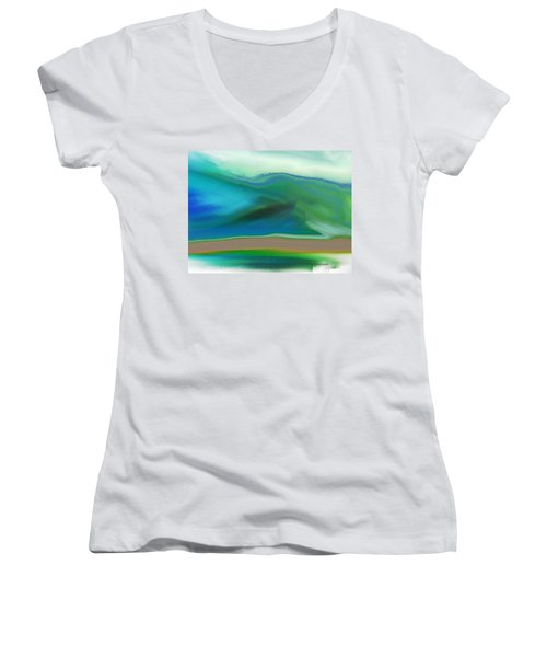 How It Feels Women's V-Neck T-Shirt (Junior Cut) by Lenore Senior