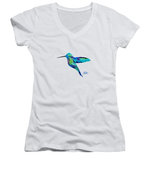 Hummingbird Women's V-Neck (Athletic Fit)