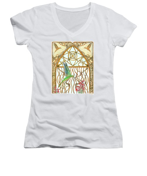 Hummingbird Sanctuary Women's V-Neck