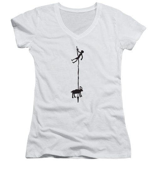 Hunting Petroglyph Women's V-Neck (Athletic Fit)