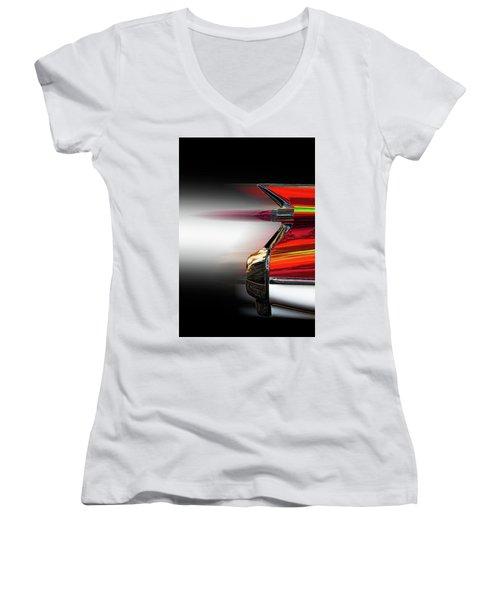 Hydra-matic Women's V-Neck T-Shirt (Junior Cut)