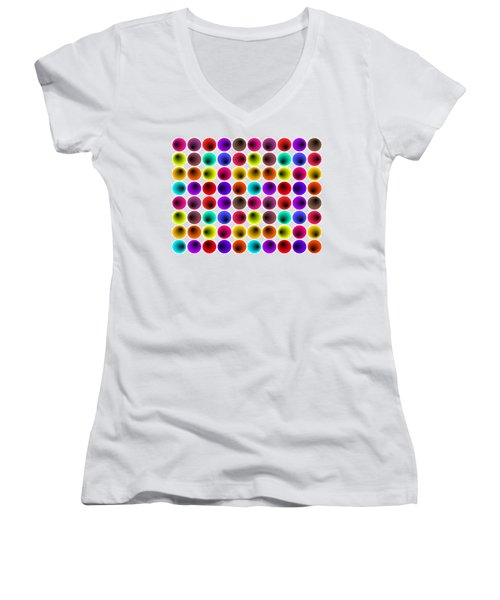 Hypnotized Optical Illusion Women's V-Neck (Athletic Fit)