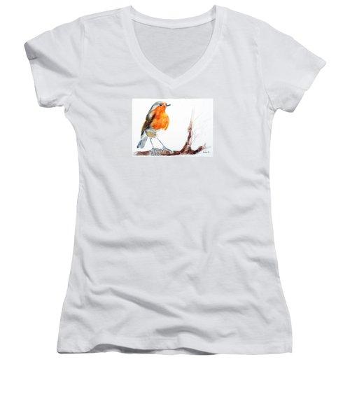 I Am Happy Women's V-Neck T-Shirt