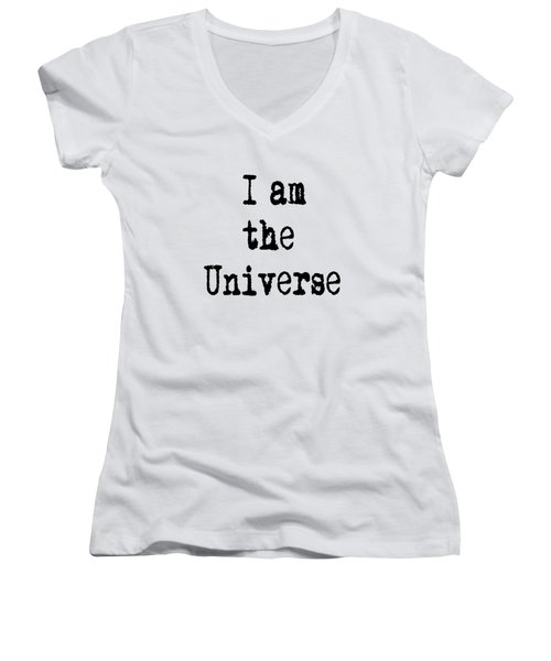 I Am The Universe Women's V-Neck (Athletic Fit)