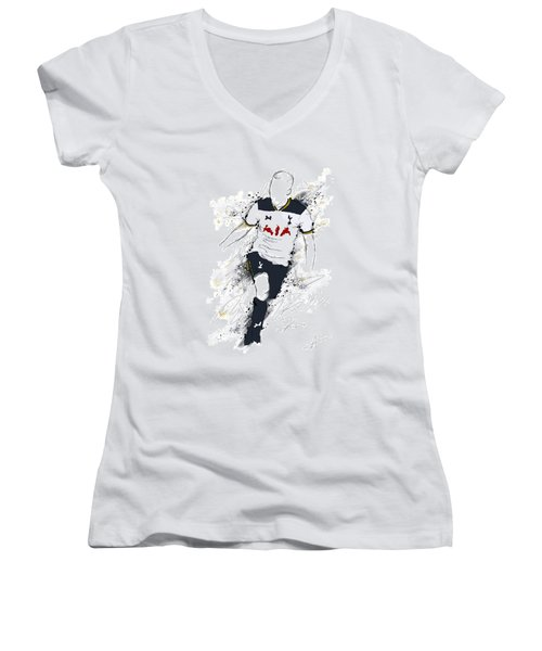 I Am White At Heart Women's V-Neck (Athletic Fit)