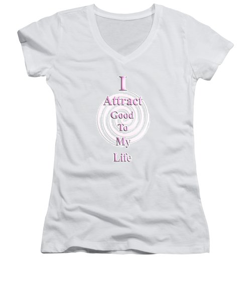 I Attract Pink Women's V-Neck