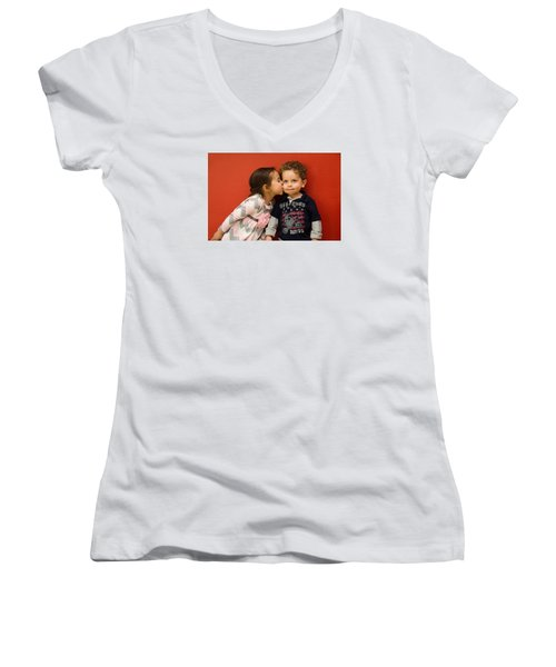I Give You A Kiss Women's V-Neck