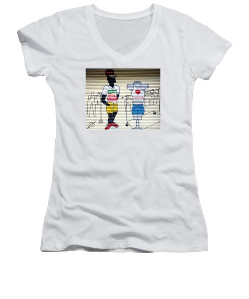I Heart Barcelona Women's V-Neck T-Shirt