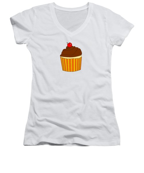 I Love Cupcakes - Food Art  Women's V-Neck (Athletic Fit)