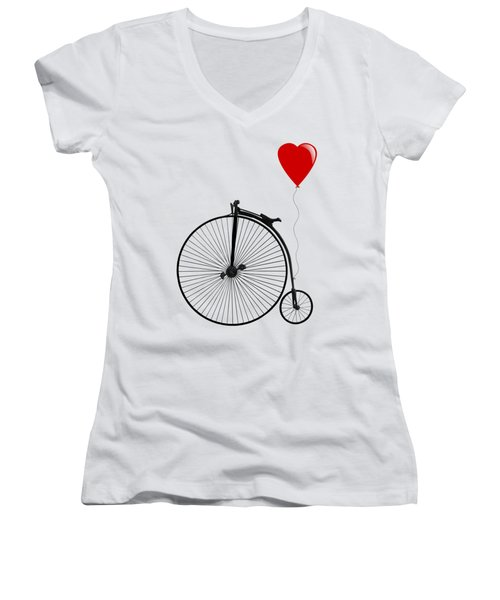 I Love Cycling Women's V-Neck T-Shirt