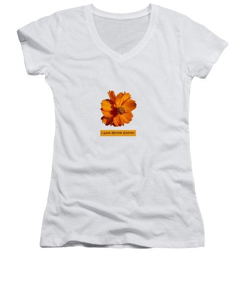 I Love Orange Cosmos 2018-1 Women's V-Neck