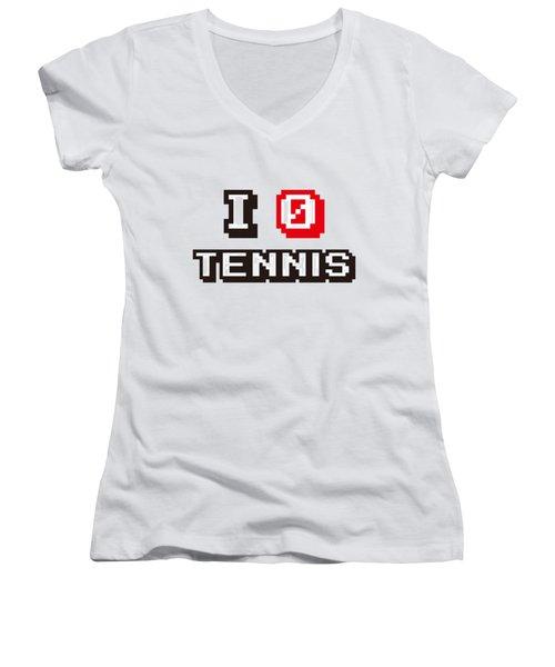 I Love Tennis Women's V-Neck T-Shirt