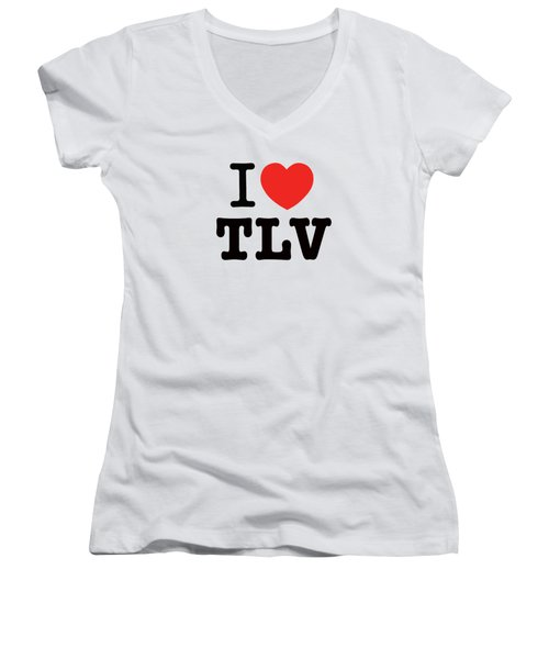 i love TLV Women's V-Neck (Athletic Fit)