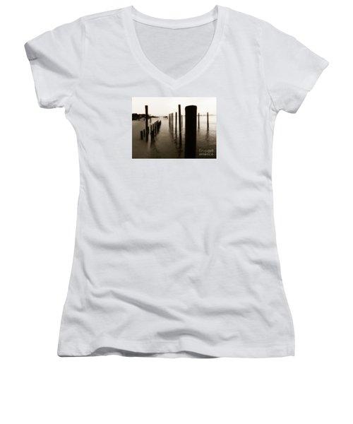 I Miss You  Women's V-Neck T-Shirt (Junior Cut) by Christy Ricafrente