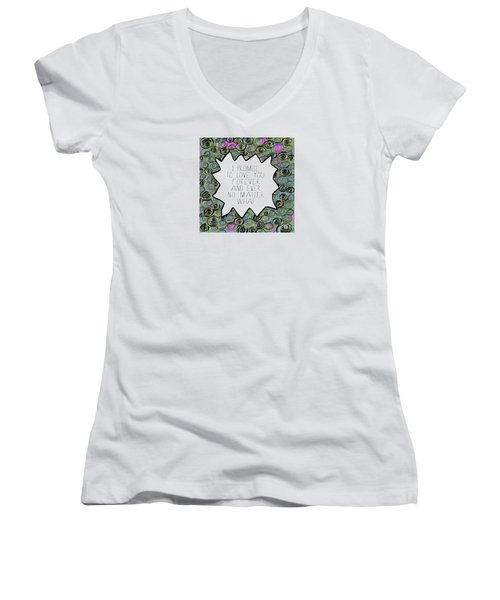 Women's V-Neck T-Shirt (Junior Cut) featuring the painting I Promise by Lisa Weedn