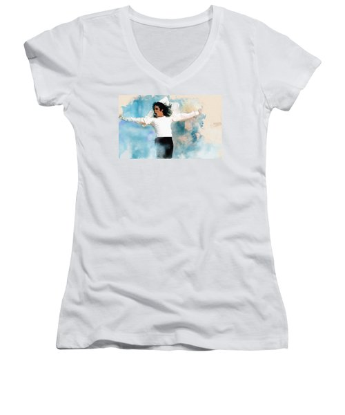 I Will Be There Women's V-Neck (Athletic Fit)