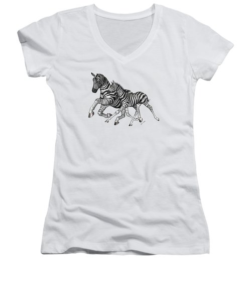 I Will Take You Home Women's V-Neck T-Shirt (Junior Cut) by Betsy Knapp