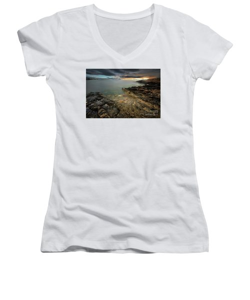 Ibiza Summer Mix 7.0 Women's V-Neck T-Shirt (Junior Cut) by Yhun Suarez