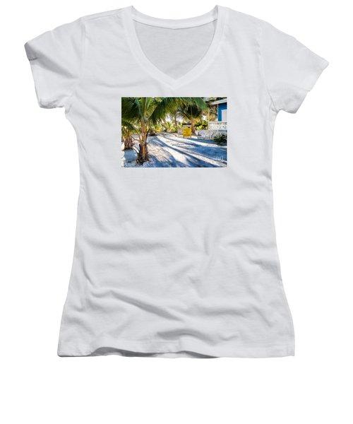 Ice Beans Women's V-Neck T-Shirt (Junior Cut)